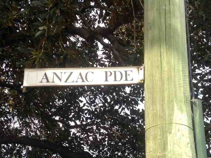 ANZAC_Parade_sign